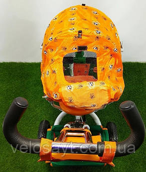 """Триколісний велосипед BC-17B - трійка """"ЛЕКСУС""""помаранчевий, фото 2"""