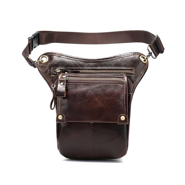 Шкіряна сумка бананка на стегно Marrant коричневого кольору