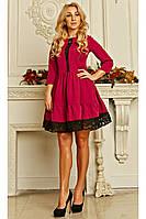 Молодежное платье большего размера цвета фуксия размер 54