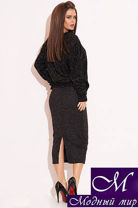 Женский костюм с юбкой ниже колена (р. 42, 44, 46) арт. 33-542, фото 2