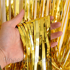 Шторка фольга для фотозоны 1х3 метра (золото)