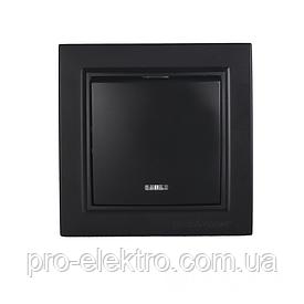 ElectroHouse Выключатель с подсветкой Безупречный графит Enzo IP22