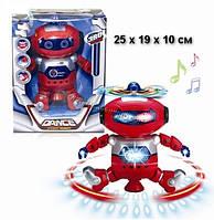 Детский рoбoт танцор Dancing Robot 99444-3 нa бaтapeйкax, танцует, звук, свет (Красный)