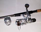 Комплект Спиннинг+Катушка с силиконовой приманкой  2,4м, фото 2