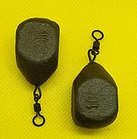 "Груз карповый ""КУБ""(Груша)100 грамм крашеный"