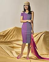 Платье приталенное миди трикотажное