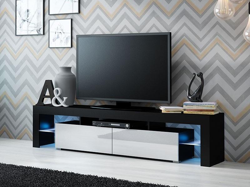 ТВ тумба SOLO 200 черный/белый (CAMA)