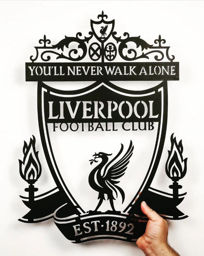 "Эмблема  картина"" Liverpool"", Панно , LaserBox"