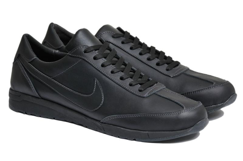 Чоловічі кросівки великого рзміру натуральна шкіра чорні NK 77 Black р. 46 47 48 49 50