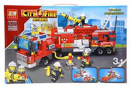 Конструктор ZB5515 Пожарная машина City Fire 3 в 1 678 дет