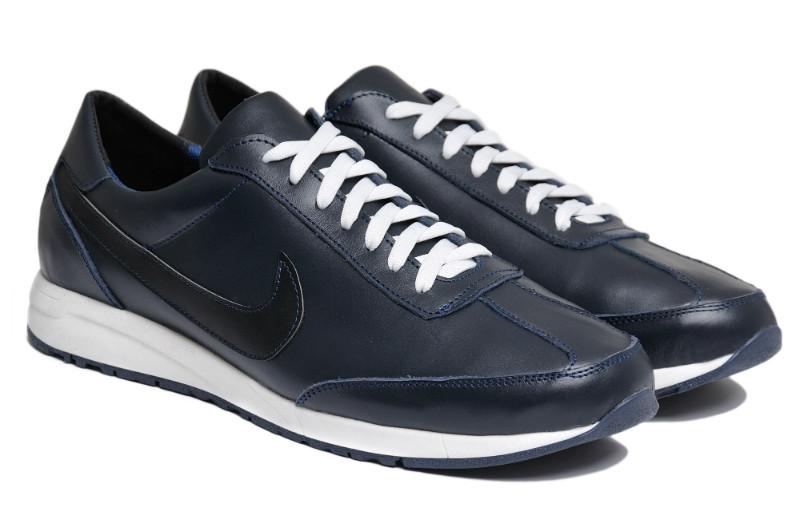 Чоловічі кросівки великого рзміру натуральна шкіра чорні NK 77 Blue р. 46 47 48 49 50