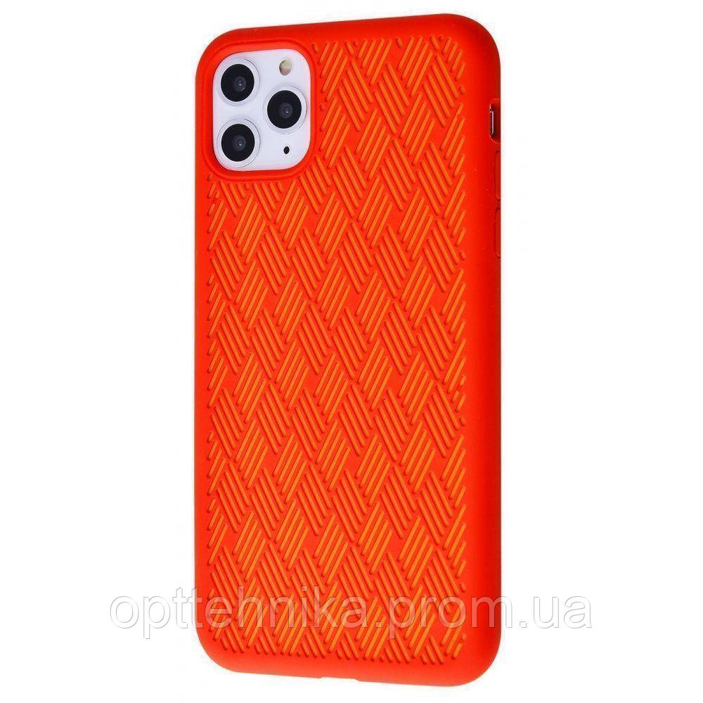 Silicone Weaving Case iPhone 11 Pro Max red