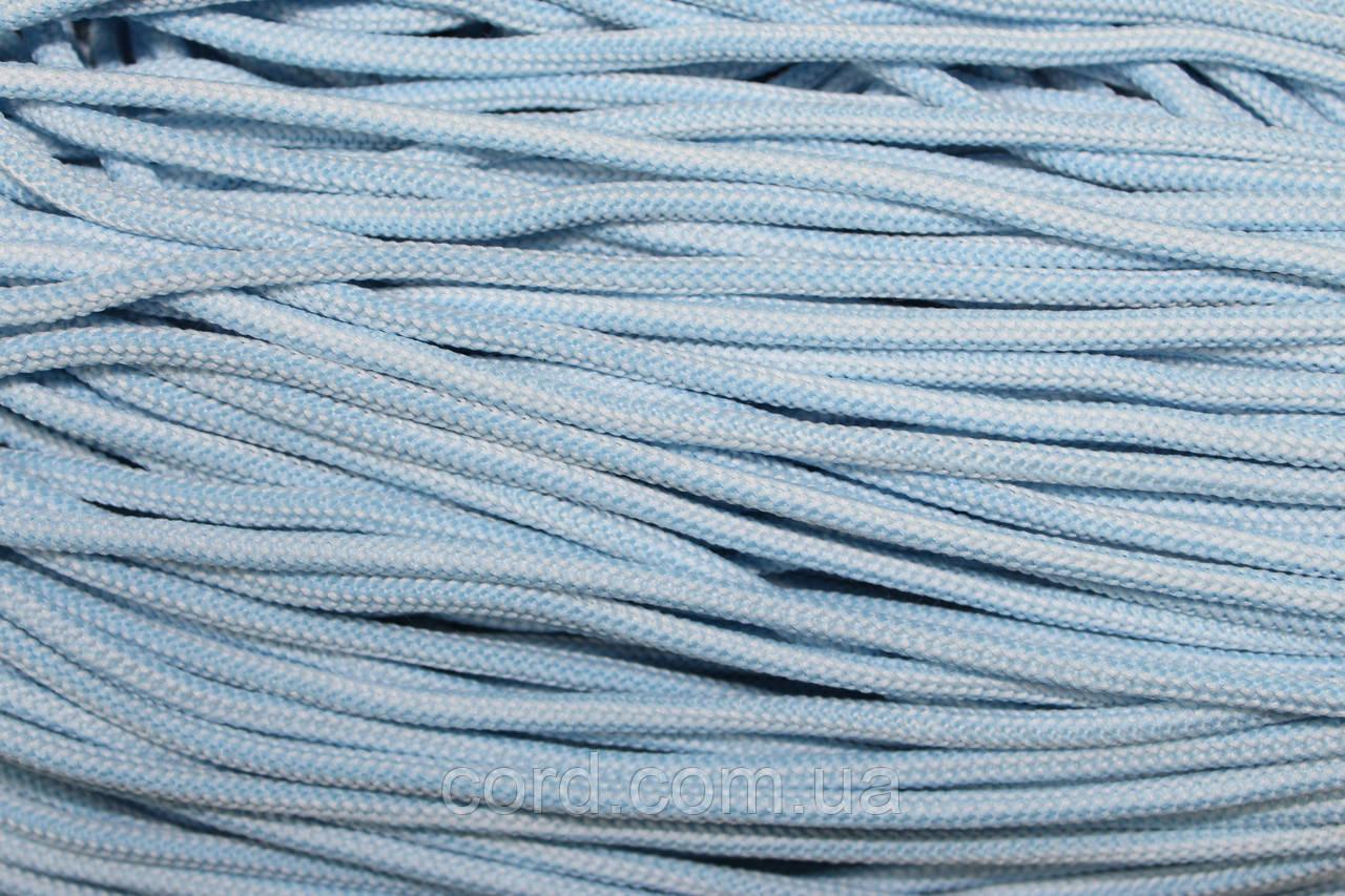 Шнур круглый 5 мм 200м  голубой + белый