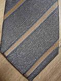 Галстук шёлковый серый в полоску SIR OLIVER (оригинал), фото 3
