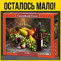 Натюрморт castorland пазл 1000 элементов | пазлы касторленд вино и фрукты для взрослых виноград