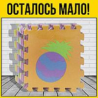 Фомовый коврик пазл Фрукты | напольные детские мягкие пазлы для самых маленьких детей