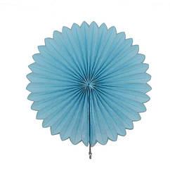 Веерный Круг тишью (голубой) 20 см