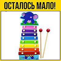 Деревянная игрушка Ксилофон | Слоник музыкальный детский деревянный инструмент для детей цена