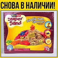 Кинетический песок Super Sand с песочницей | для детей малышей лепки как сделать аналог Kinetic Sand