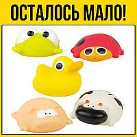 Набор игрушек для купания Зверушки | Детские развивающие игрушки для детей девочек мальчиков лет