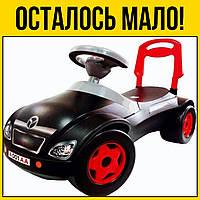 Машинка каталка Мерсик черная | Детские игрушки игры лет года детское для детей мальчиков девочек