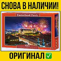 Пазлы Castorland на 500 шт 47 * 33 | Замок и фейерверки Польша , касторленд для взрослых пейзаж