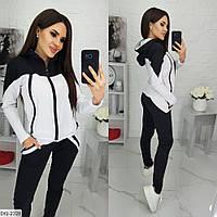 Красивый женский спортивный костюм с кофтой на молнии арт 070