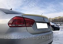 Lip spoiler (лип спойлер-сабля) Volkswagen passat b7 usa sedan фольксваген пассат б7 сша - америка седан 2011+
