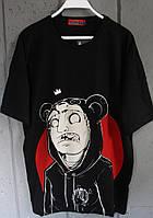 Мужская футболка черная летняя аниме Турция. Живое фото. Топ качество