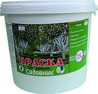 Краска акриловая для деревьев Ispolin Садовник белая 5л (5кг)