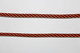 Шнур круглый 5 мм 100м оранжевый + черный, фото 2