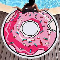 Круглое пляжное полотенце Пончик (150 см.)