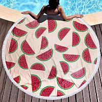 Круглое пляжное полотенце Арбузики (150 см.)