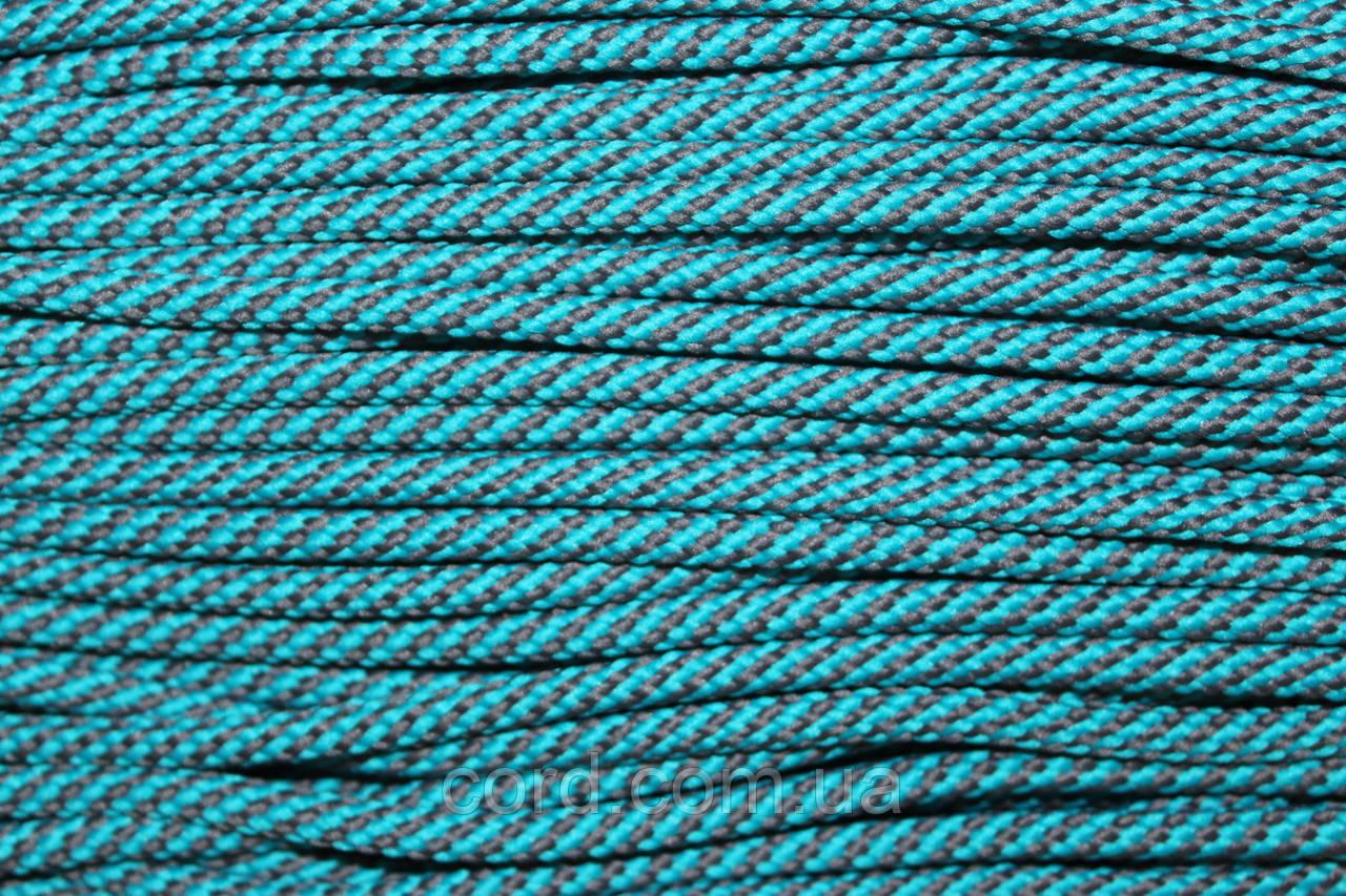 Шнур круглый 5 мм 100м мор волна + серый