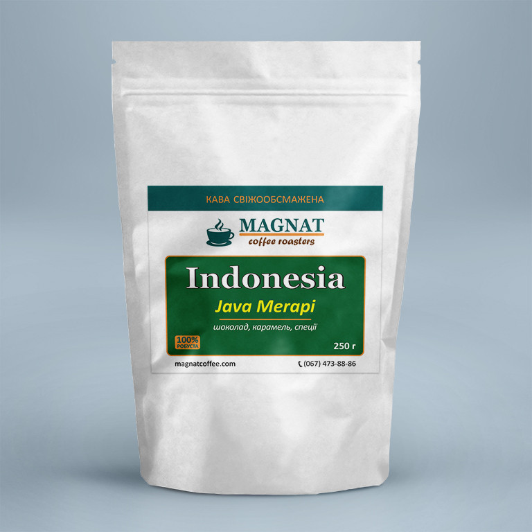 Indonesia Java Merapi Робуста 100% 250 г
