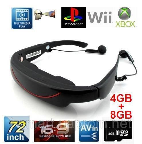 """Видео очки 72"""" + AV-input (телевизор,dvd,PS-3, Wii xBox 360)"""