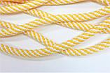 Шнур круглый 5 мм 100м белый + желтый, фото 2