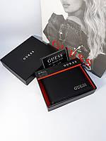 Мужской кожаный кошелек портмоне черный