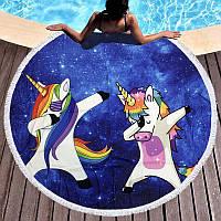 Круглое пляжное полотенце Пони звезда (150 см.)