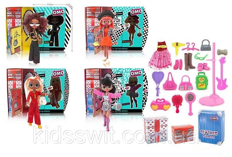 Кукла с игровым набором, 4 вида, в коробке, LK 1010