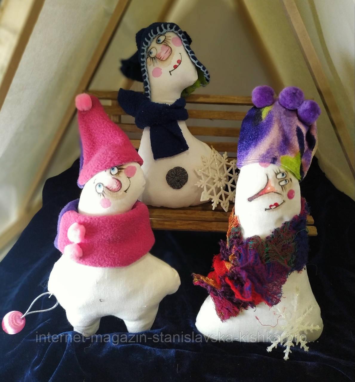 текстильна лялька СНІГОВИК
