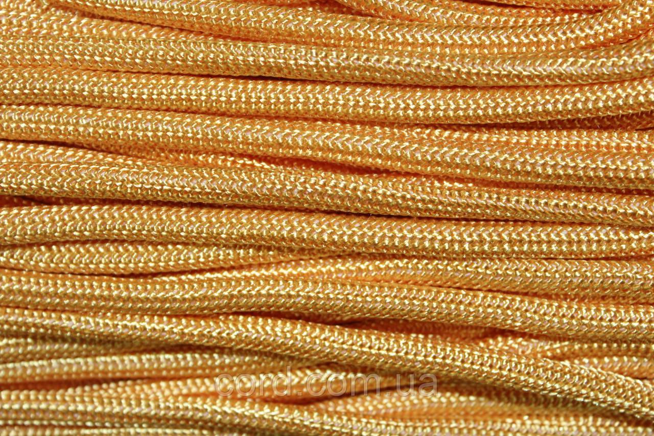 Шнур круглый 5 мм 100м (Т) желтый