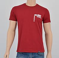 Мужская футболка Puma(реплика) спинка Бордо, фото 1