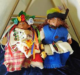 текстильна лялька ГУЦУЛКА КСЕНЯ, ГУЦУЛ БОДЯ
