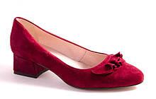 Туфли женские бордовые Favor 1336 р.36-41