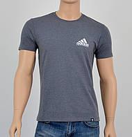 Чоловіча футболка Adidas(репліка) спинка Попелястий