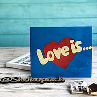 "Набор шоколадок ""Love is"" 100 г (20 мини-плиток молочного шоколада)  - Подарок для для любимого человека"