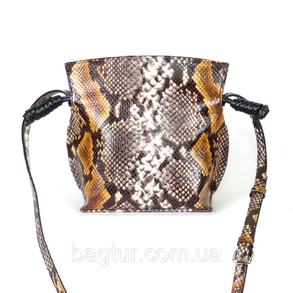 Женская кожаная сумочка-кроссбоди 50 питон 01500116