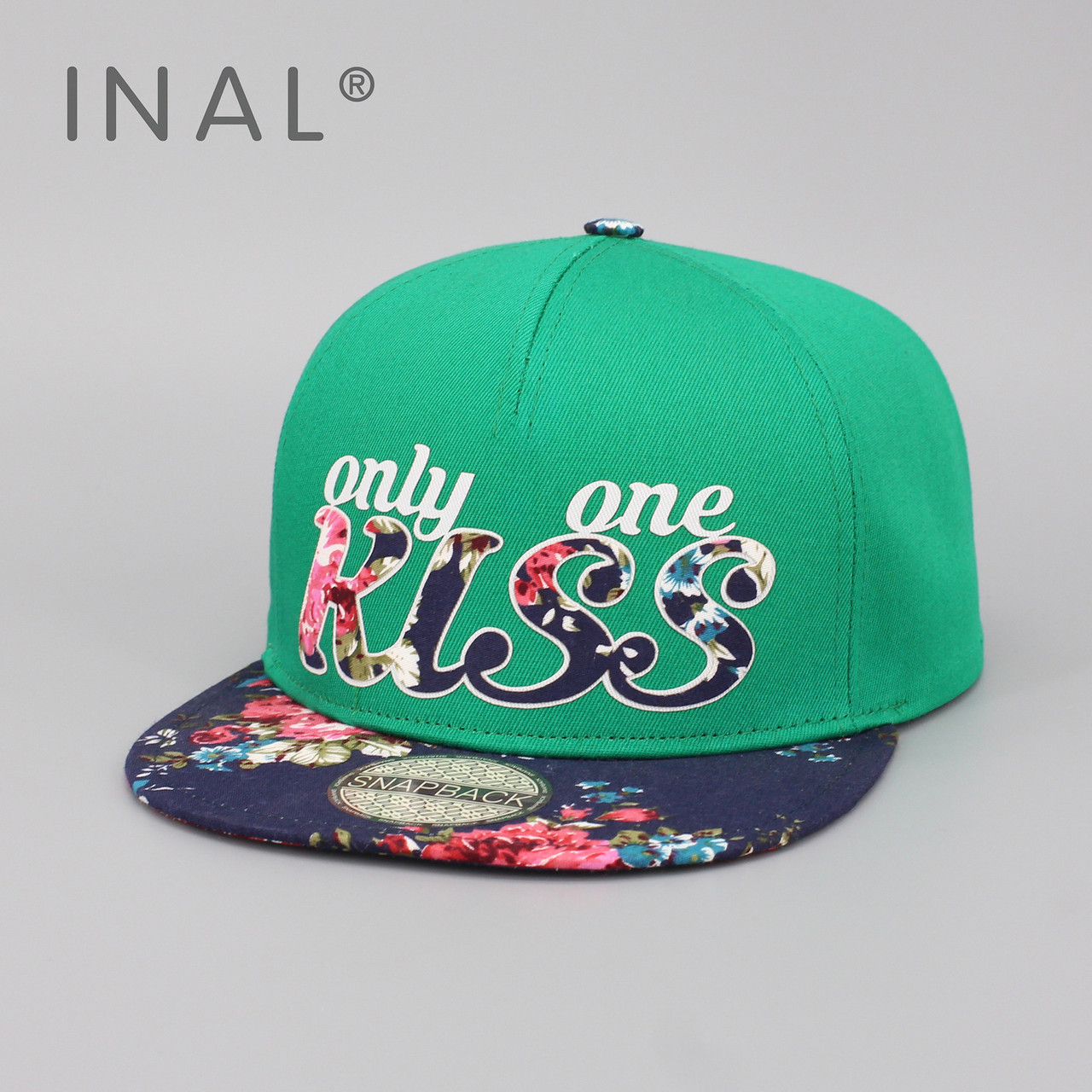 Детская кепка бейсболка для девочки 3-16 лет INAL kiss XS / 51-52 RU Зеленый 46651