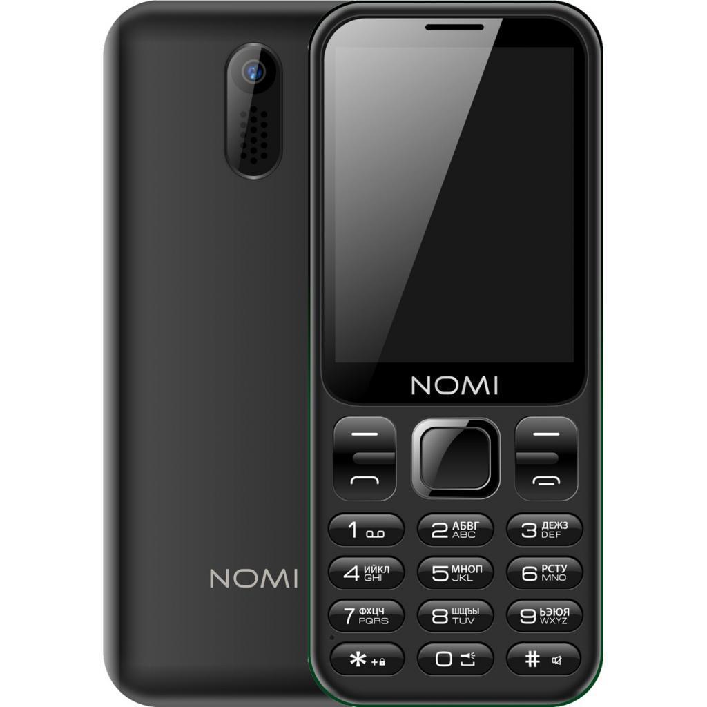 """Кнопочный телефон с большим экраном и камерой Nomi i284 Black 2,8"""" АКБ 1750 мА*ч"""